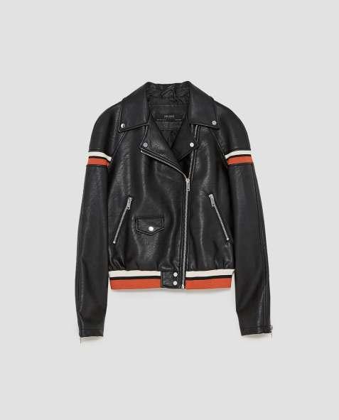 H&M, veste biker, soldes, 29.95 CHF