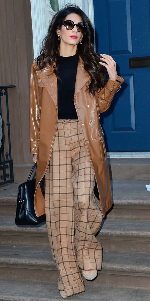 Amal Clooney looks ready for work in style