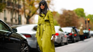 green-trench-street-style